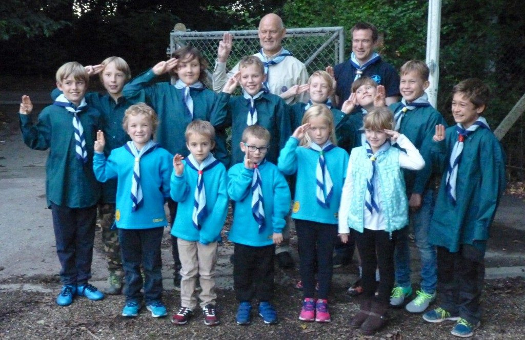 Steve Capel with Beavers and Scouts